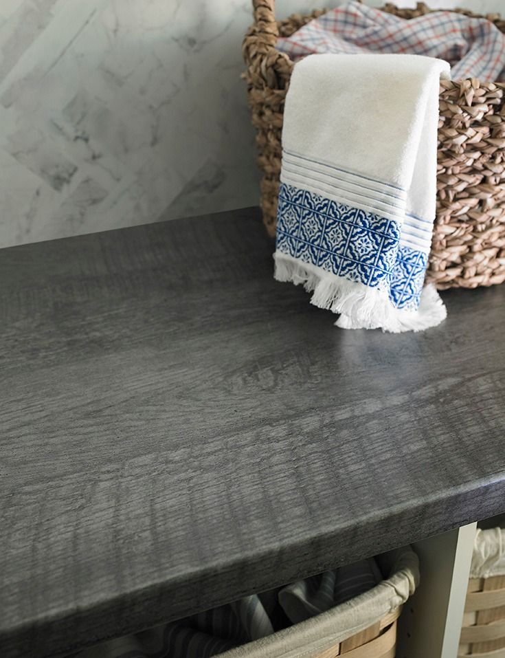 Formica 174 Laminate 6416 Charred Formwood With A Post