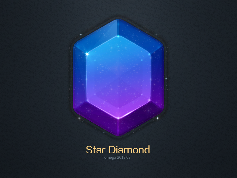 Diamond Star Diamond Gem Icon Logo Omega Shinning Game Icon Space Icons Game Gem