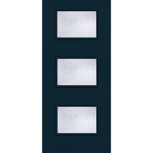 Modern Fiberglass Entry Doors builder's choice 36 in. x 80 in. atlantis 3 lite rain glass