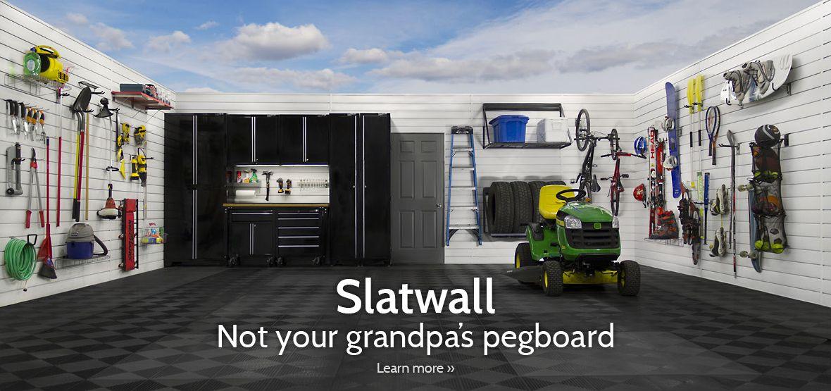 Proslat | Garage U0026 Home Organization | Slatwall | Storage Products |  Racking | Flooring