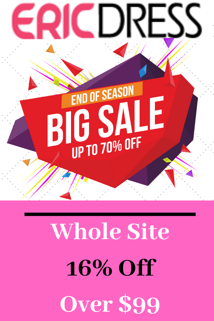 Whole Site 16 Off Over 99 Shopping Coupons Ericdress Site