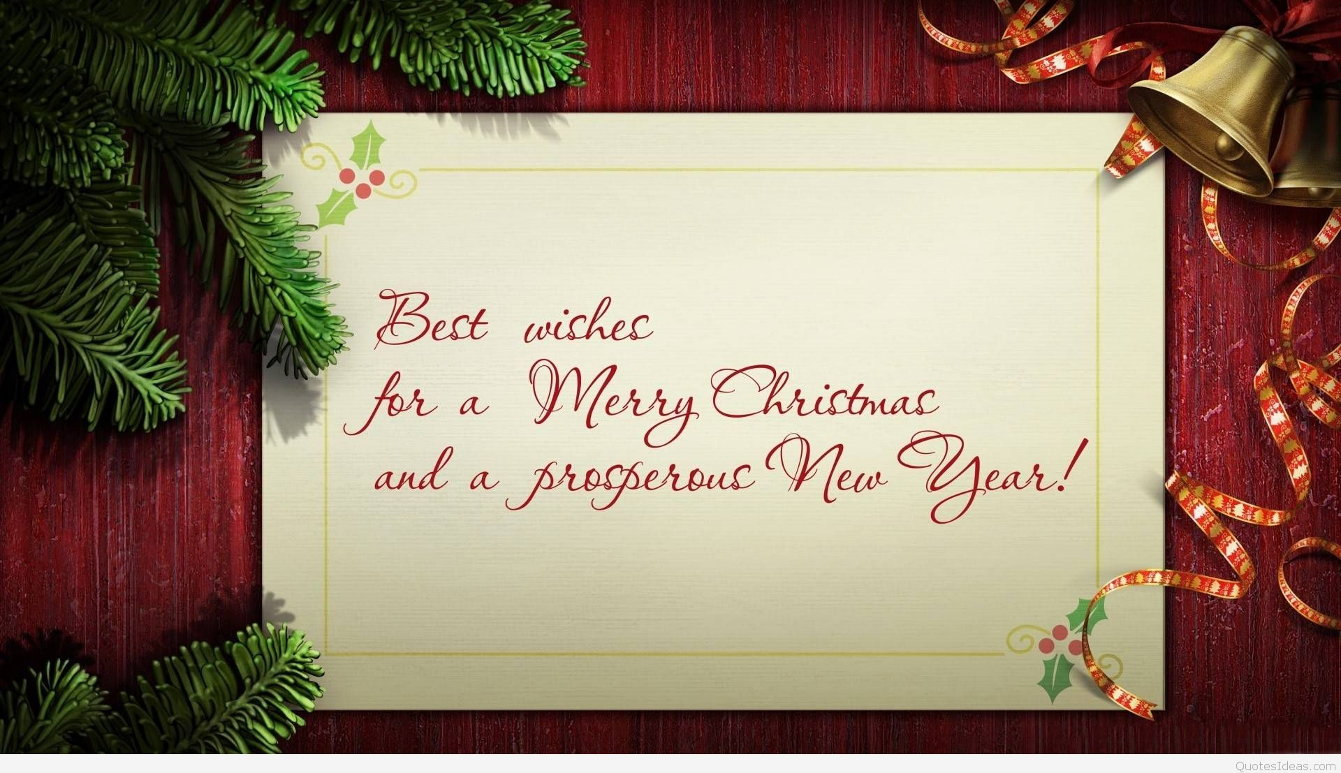 Best Wishes For A Merry Christmas And A Prosperous New