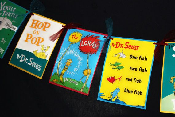 graphic about Dr.seuss Book Covers Printable named Dr. Seuss Reserve Go over Banner through YourPartyParadise upon Etsy