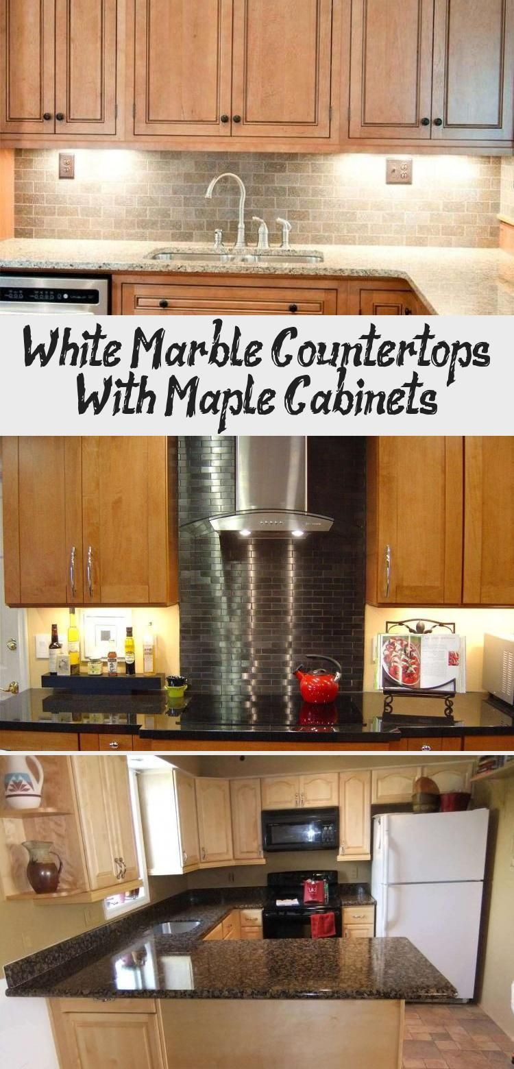 White marble countertops with maple cabinets - KTCHN # ... on Maple Cabinets With White Countertops  id=97808