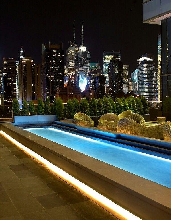 Rooftop Pool #nyc #newyorkcity #manhattan