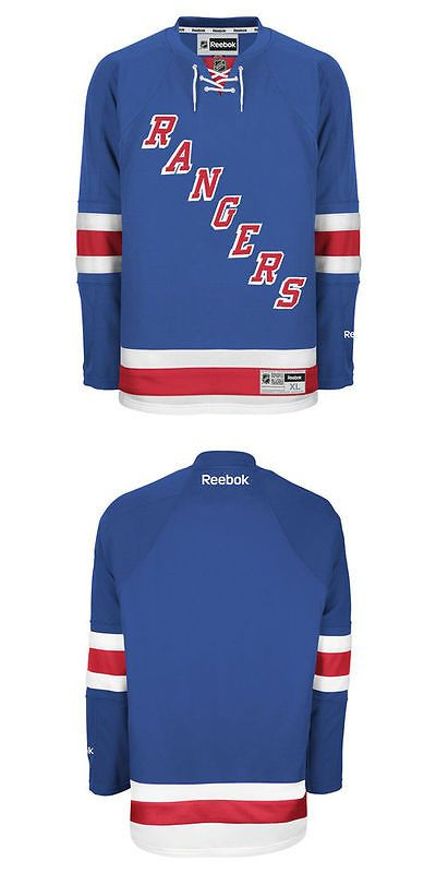 Hockey-NHL 24510  Reebok New York Rangers Men S Premier Home Jersey - Blue b6ae8a989
