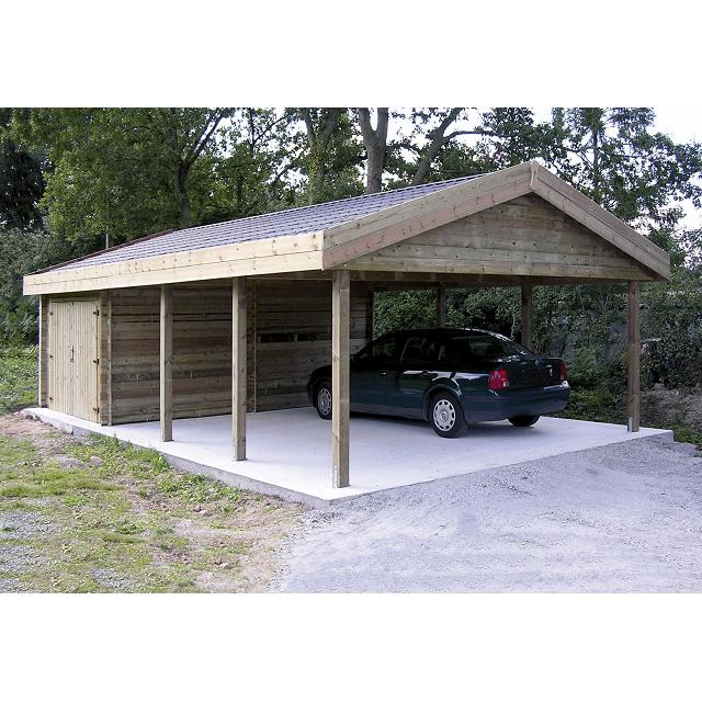 Photo compl mentaire terrain pinterest carport en for Abri auto double costco