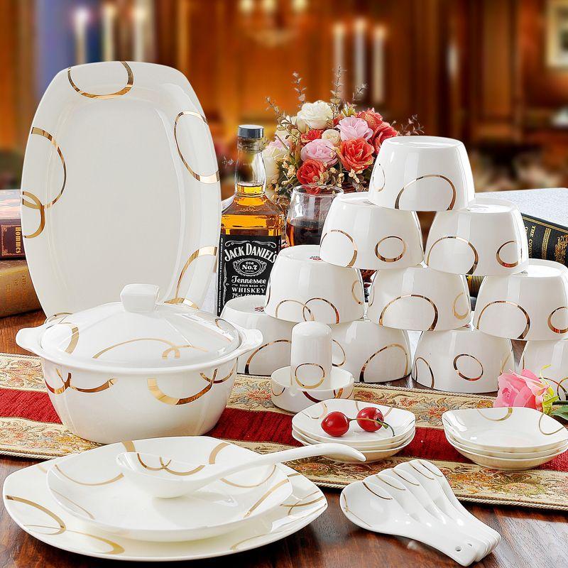 Good Quality Ceramics Dinnerware Sets 56 Pcs Bone China Tableware Set Porcelain Tableware Korean St Ceramic Dinnerware Set Ceramic Dinnerware Ceramic Tableware