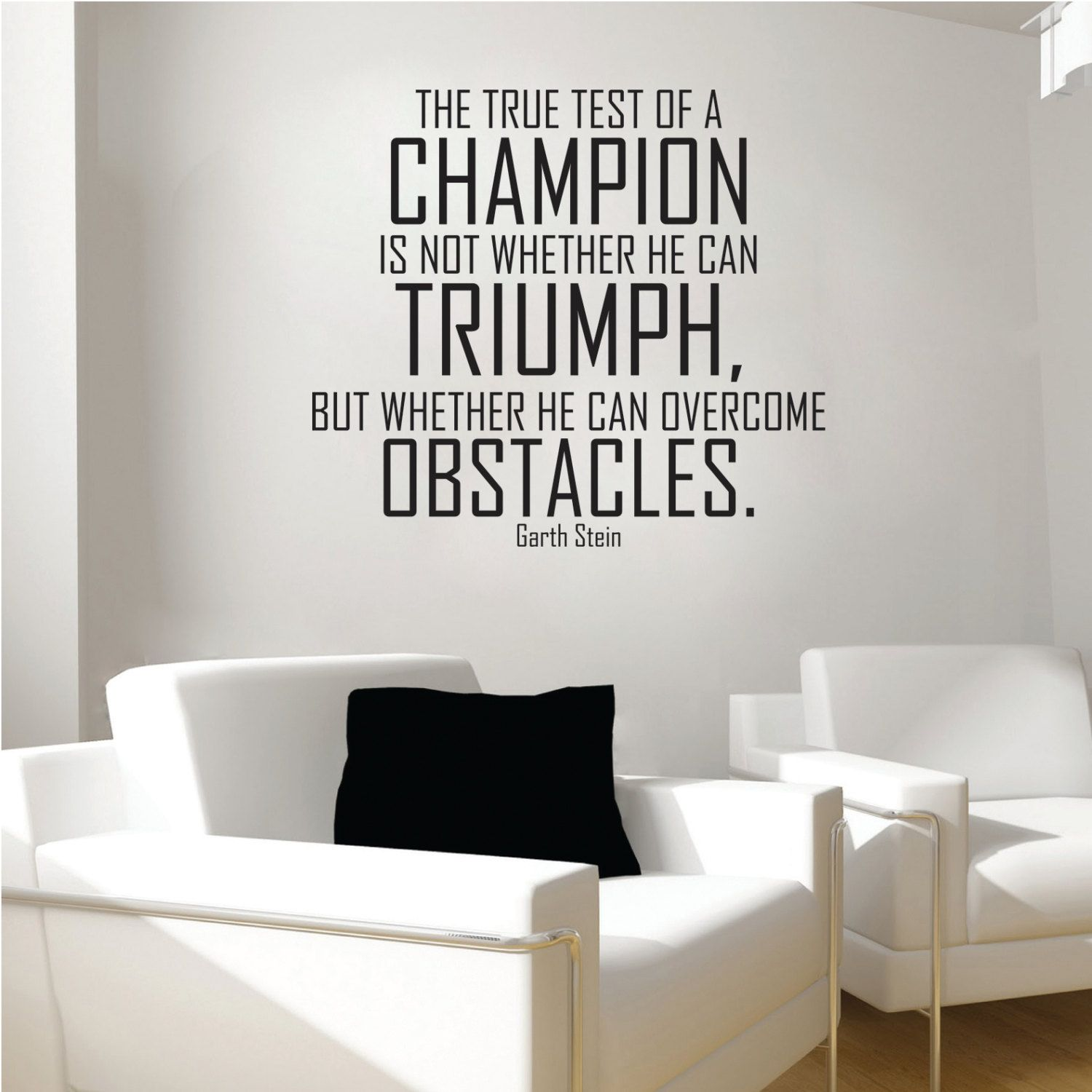 Champion wall decal, Champions wall decal, champion quote decal ...