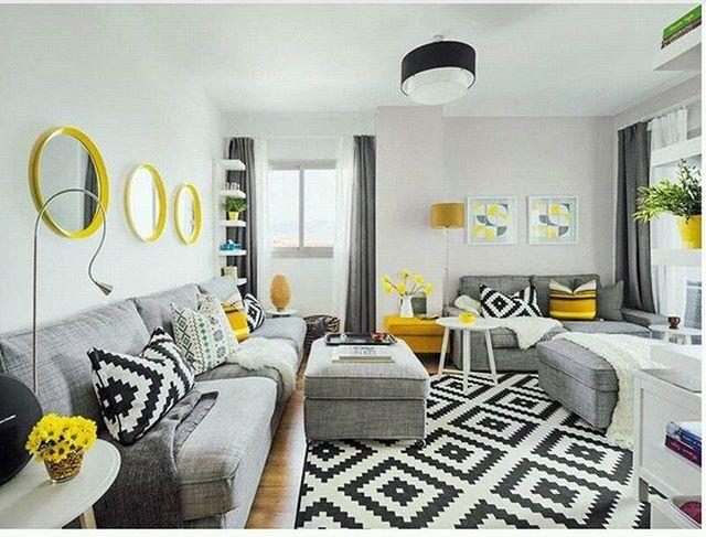 Ковер, короткий ворс, белый белый черный, черный LAPPLJUNG RUTA - dekoration für wohnzimmer
