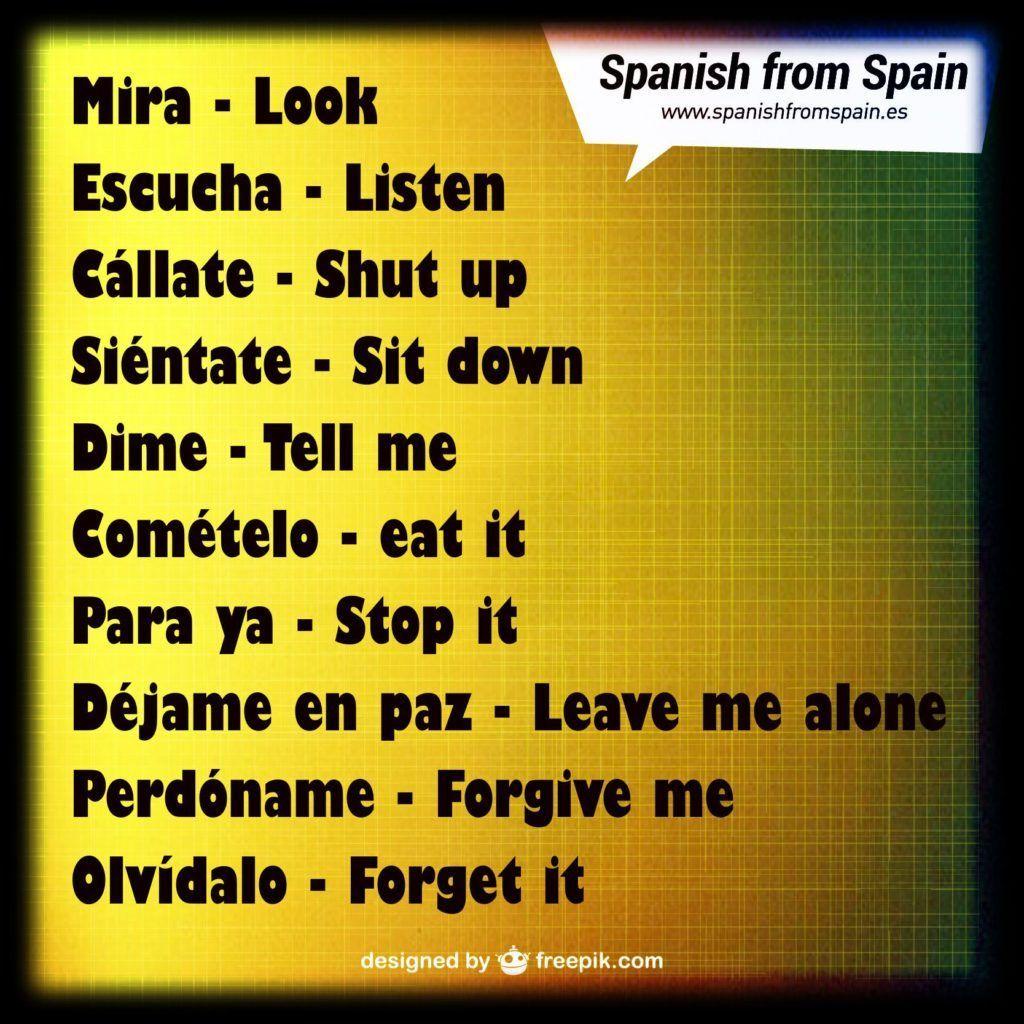 Los 10 Imperativos Mas Comunes En Espanol