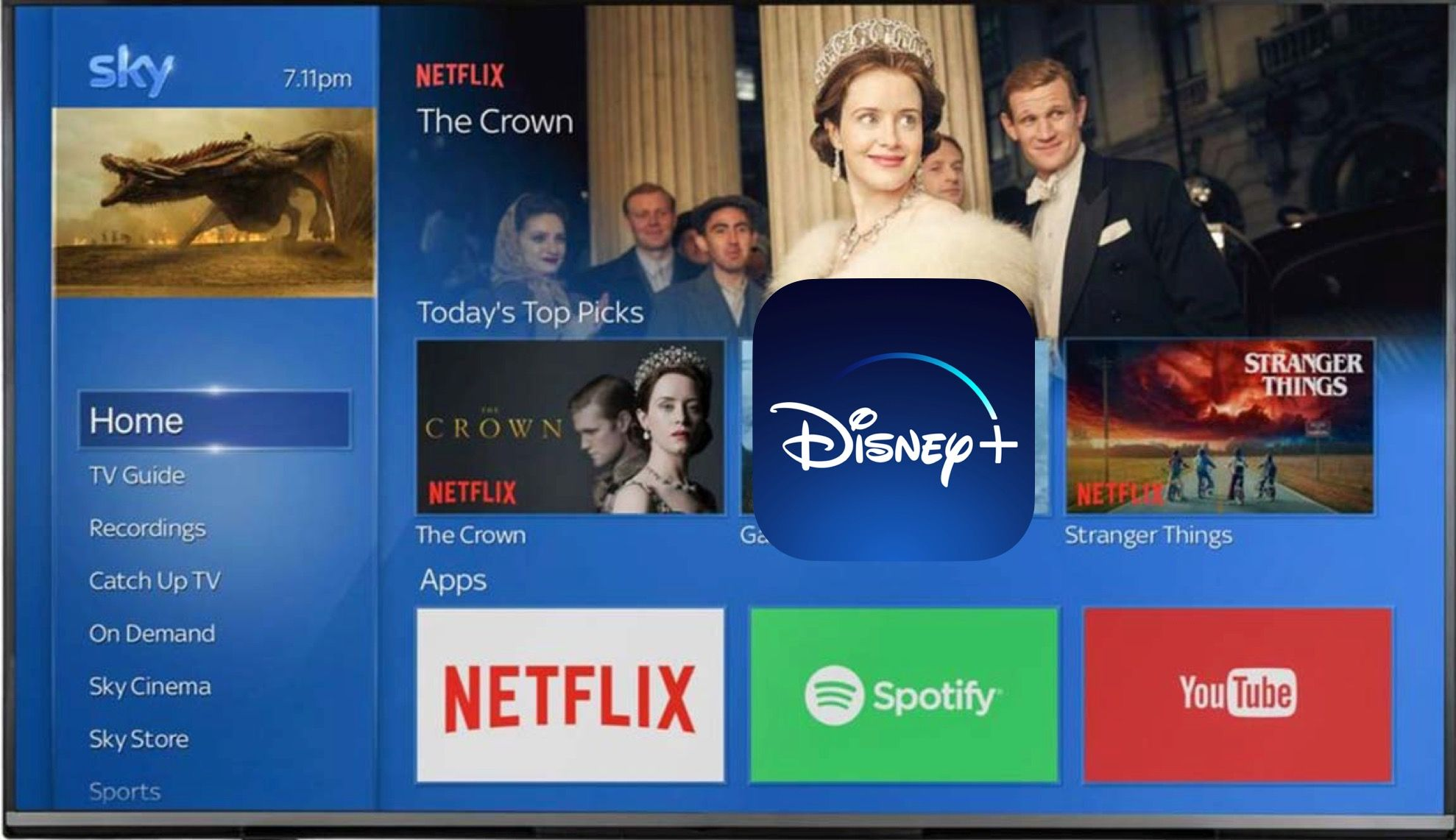 How to SignUp For Disney+ Through Sky and Stream on Sky Q