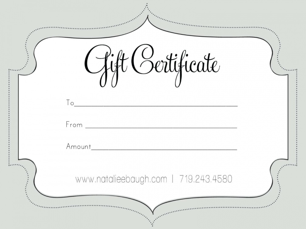 Printable Fillable Gift Certificate Template Custom Certificates Intended Fo Free Gift Certificate Template Gift Card Template Free Printable Gift Certificates