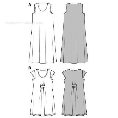 Burda Mujer Tallas Grandes Vestido Bu7100 Patrones De Vestidos Sencillos Patrones De Burda Vestidos De Talla Grande