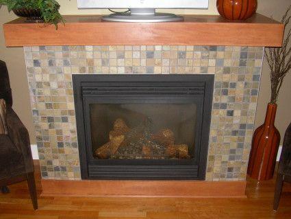 Slate tiled fireplace | Slate fireplace | Family Room Ideas ...