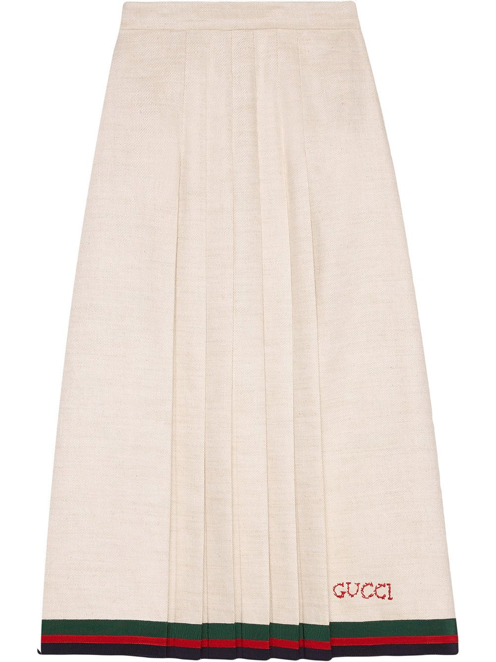 6172d6d2b3 Gucci Linen Pleated Skirt | Outfits & Styles | Pleated skirt, Skirts ...