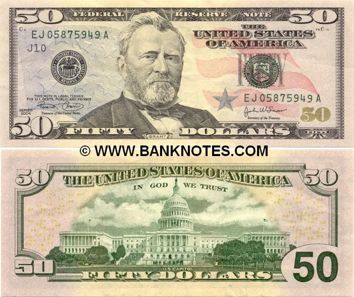 World Paper Bills 2004 American Currency Bank Notes Paper Money World Currency Money Template Dollar Banknote Us Currency Bills