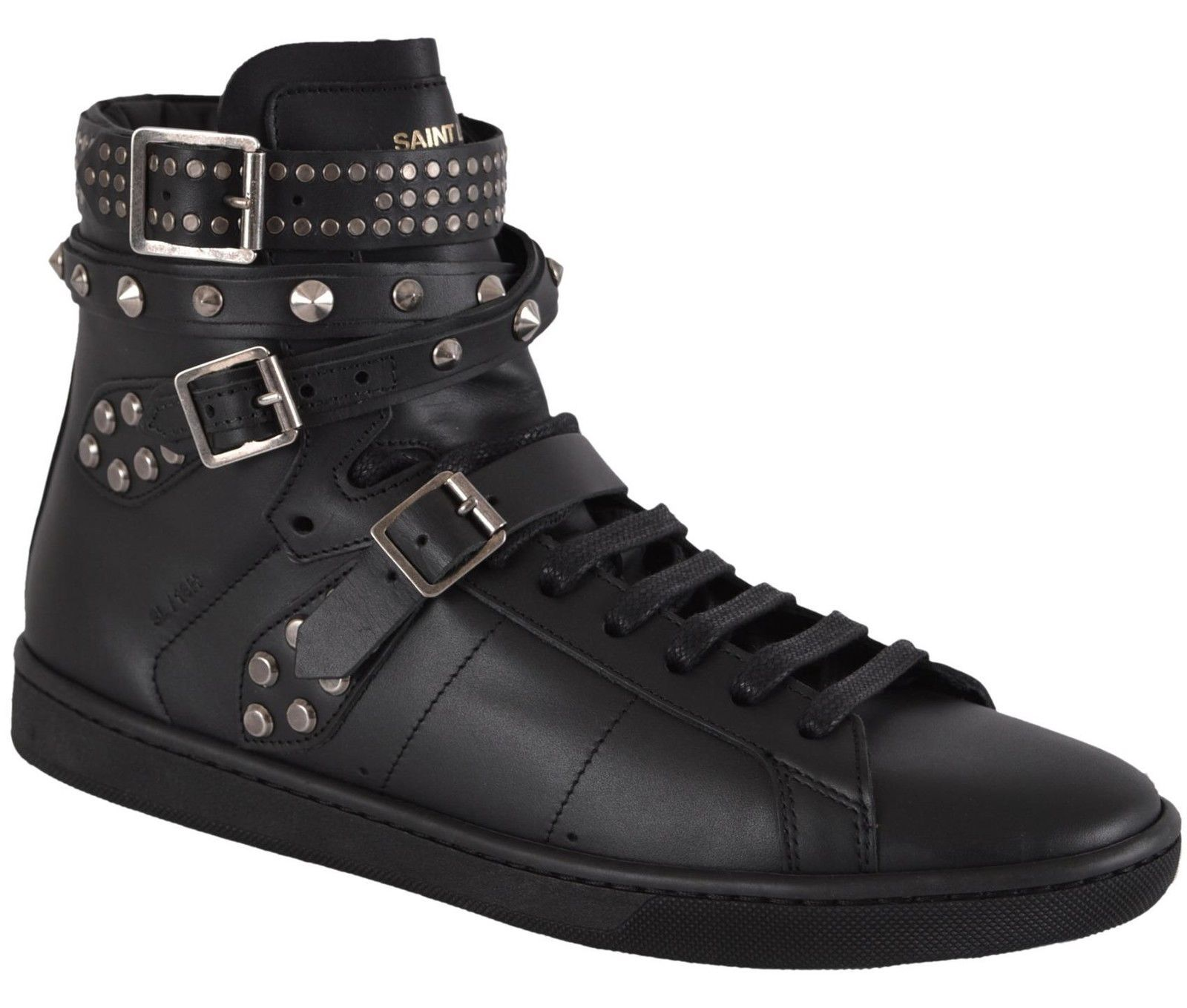 4afec7cdec1619 Yves Saint Laurent Ysl Women'S Studded Court Classic Hi Top Sneakers Shoes