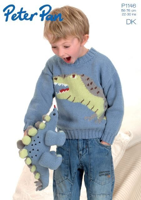 bd94d98b161b4a Dinosaur Sweater and Toy in Peter Pan DK (1146)