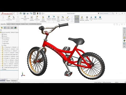 Solidworks tutorial | Design and Assembly of Bicycle in