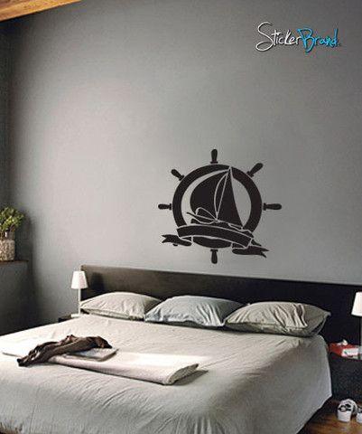 Vinyl Wall Decal Sticker Nautical Ship #443
