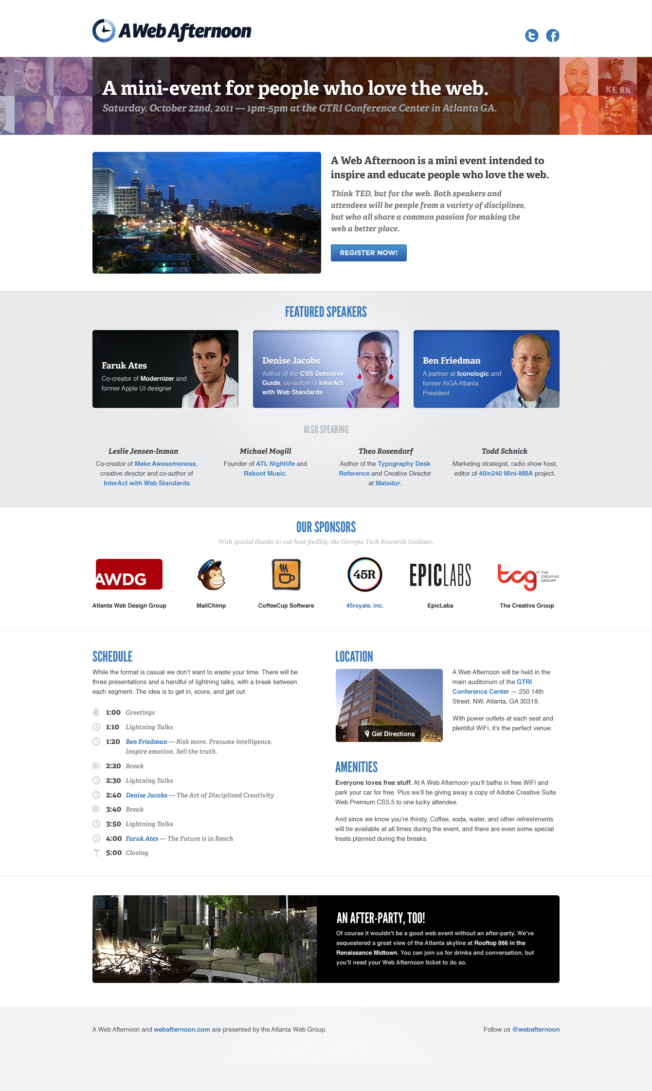 We Designed And Developed A Website For Web Afternoon The Event For People Who Love The Web Web Design Company Web Design Design