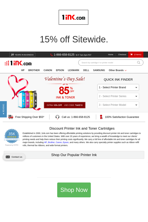 Best Deals And Coupons For 1ink Com In 2020 Sitewide Lexmark Laser Toner