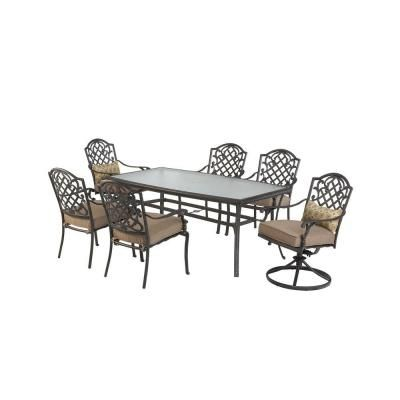 Martha Living Augusta 7 Piece Patio Dining Set 2 11 801