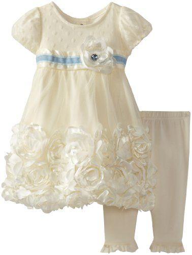Nannette Baby-Girls Newborn 2 Piece Rossette Dress Legging Set, Beige, 6-9 Months Nannette,http://www.amazon.com/dp/B00CC7F1R6/ref=cm_sw_r_pi_dp_tnZBsb0YBX1TGB6D