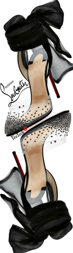 30dce99bd9c ❈Téa Tosh❈ Christian Louboutin, Miragirl Ankle-Wrap Red Sole Pump ...