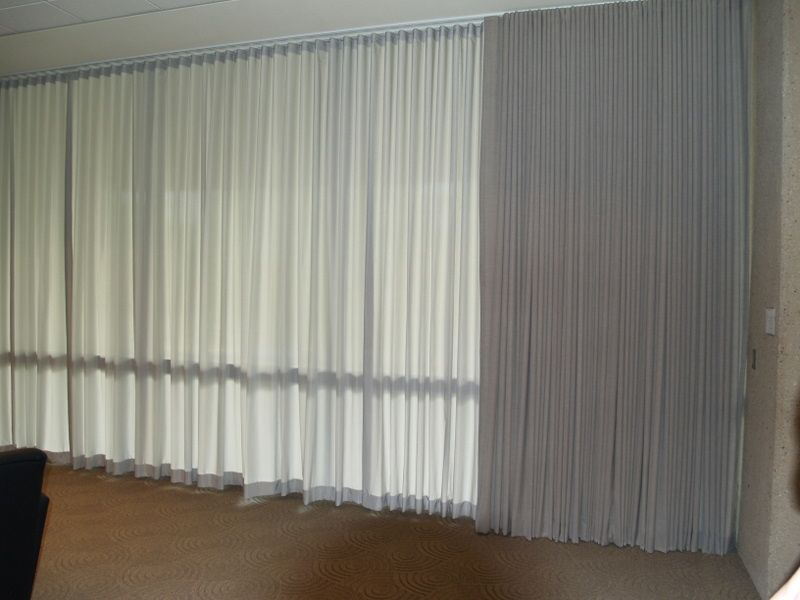 Ripple Fold Curtains Installed In A Commercial Area By Shades Creation Ripple Curtains Home Decor Comme Curtains Curtains With Blinds Ripplefold Curtains