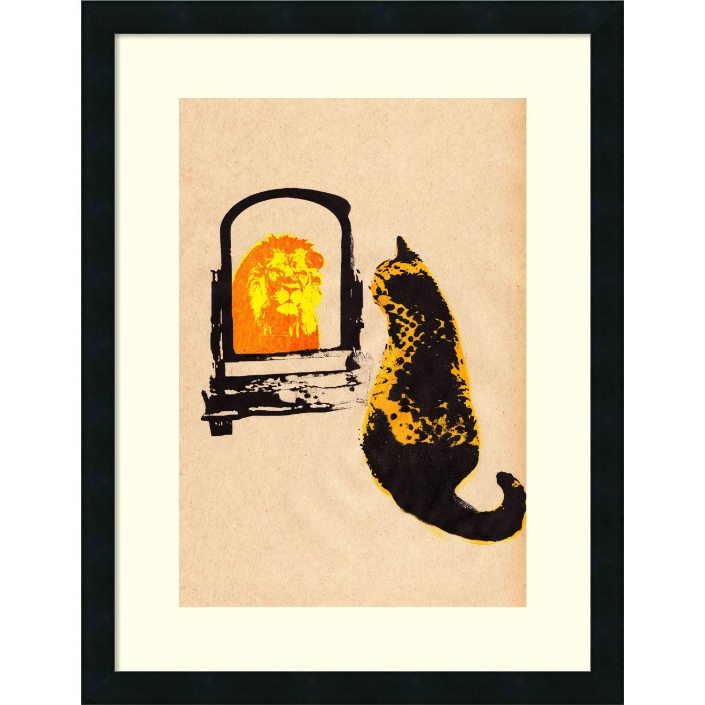 Katie Edwards \'Think Big Brown\' Framed Art Print 20 x 26-inch ...