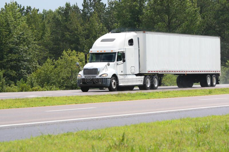 Truck Cargo Big White Truck Driving On A Road Sponsored Big Cargo Truck White Road Ad Truck Cargo Trucks White Truck