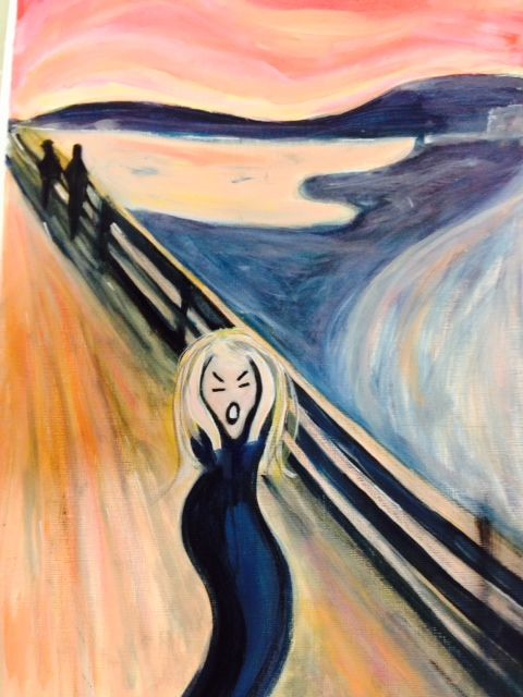 My Scream In Response To Studying Edvard Munchs Artwork The