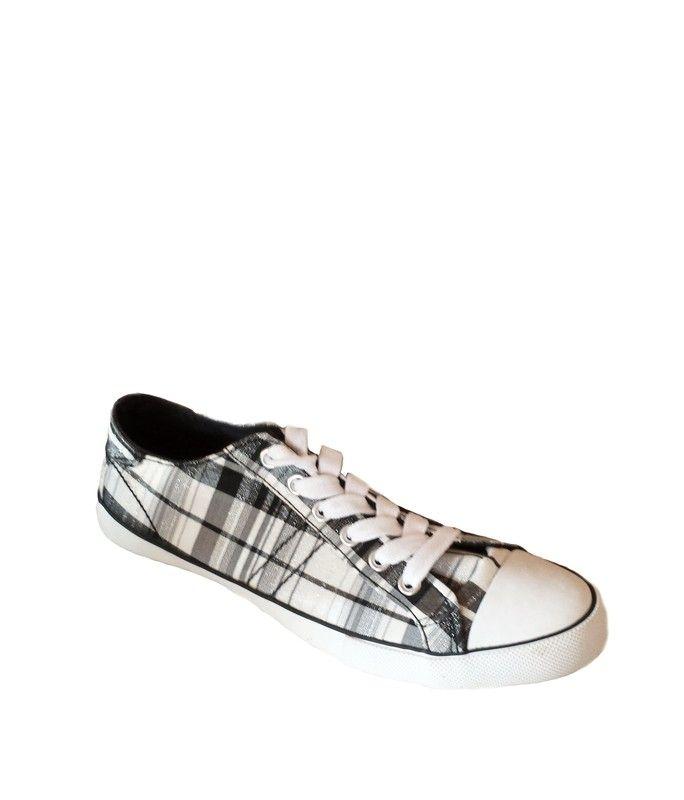 Graceland Sneakers weiß/grau kariert. - kleiderkreisel.de