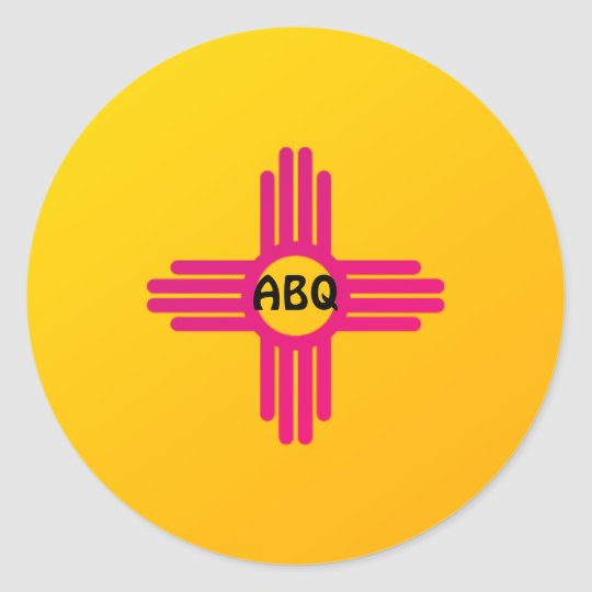 Albuquerque Abq New Mexico State Flag Zia Sun Classic Round Sticker Zazzle Com In 2020 New Mexico State Flag New Mexico State Flags