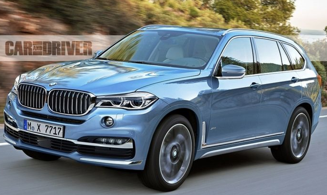 2018 Bmw X7 Rendering 3 Row Seating Hybrid Version Also