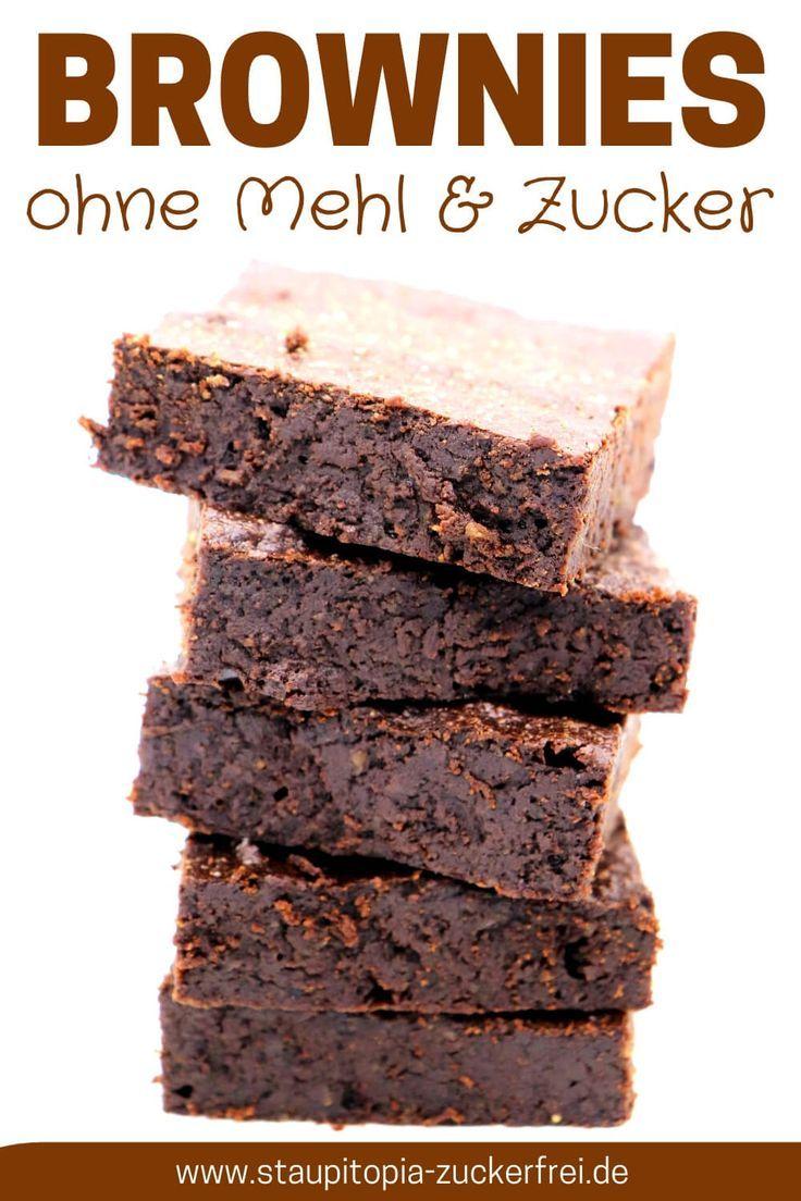Brownies ohne Zucker und Mehl - Staupitopia Zuckerfrei