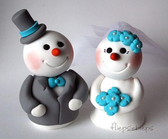 Custom Snowman Wedding Cake Topper | Wedding cake, Weddings and ...