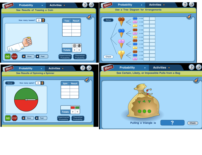 7 different interactive probability activities   Math statistics ...