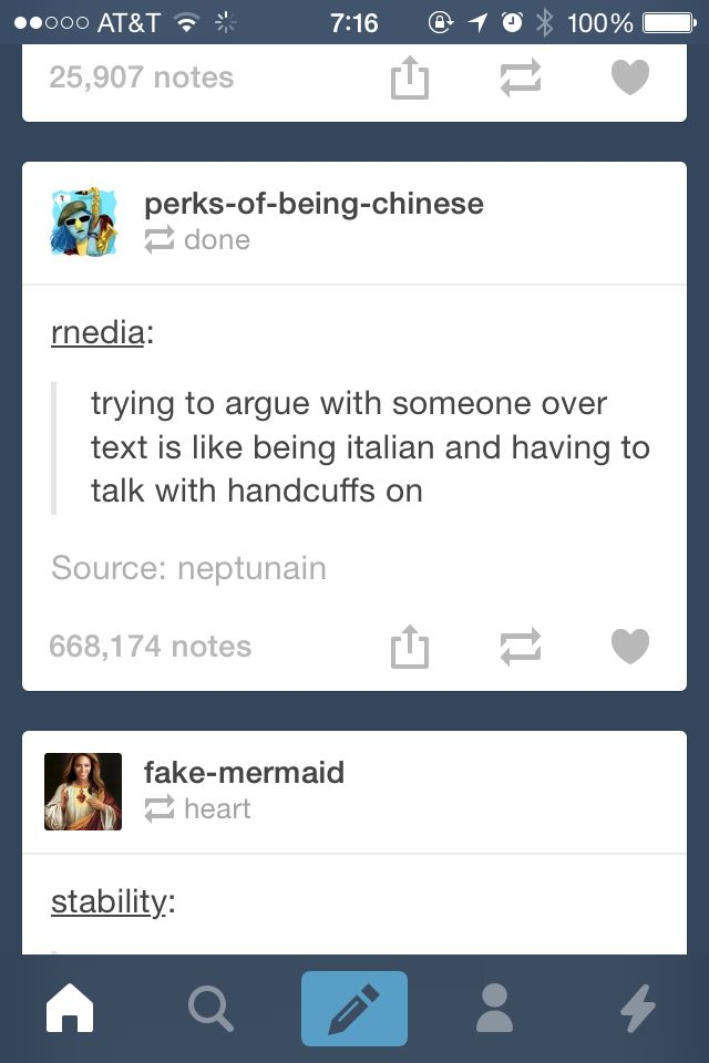 hahah it's so funny because it's true. I have the hardest time talking without my hands, i feel the same when i try to argue with someone over a text. it's like handicapped arguing