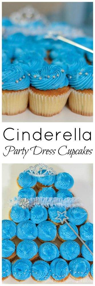 Cinderella Party Dress Cupcakes Recipe from @slingmama (Around My Family Table)