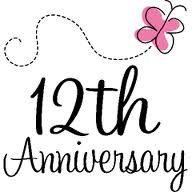 Happy 12th Anniversary Annigifts Com Tulisan Gambar
