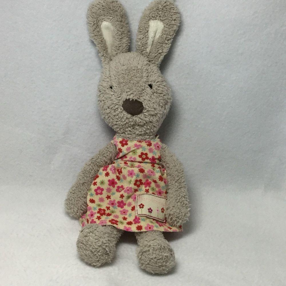 Jellycat Beatrice Bunny Rabbit Corduroy Dress Plush Soft Toy Beige Flower Floral Plush Animals Jellycat Plush