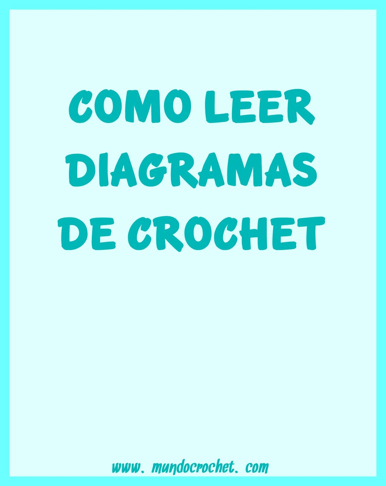Cómo leer diagramas de crochet o ganchillo | casa | Pinterest | Leer ...