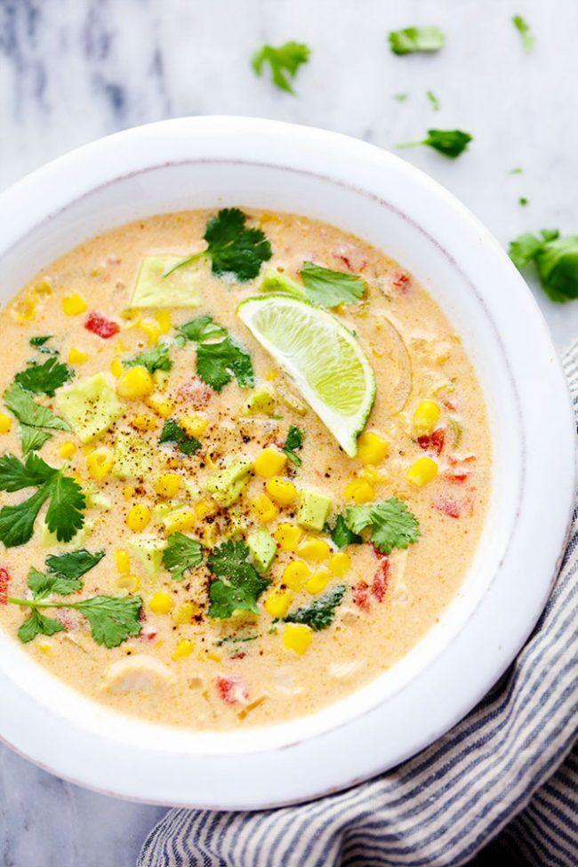 Mexican Chicken Corn Chowder Recipe Soup Pinterest Eintopf