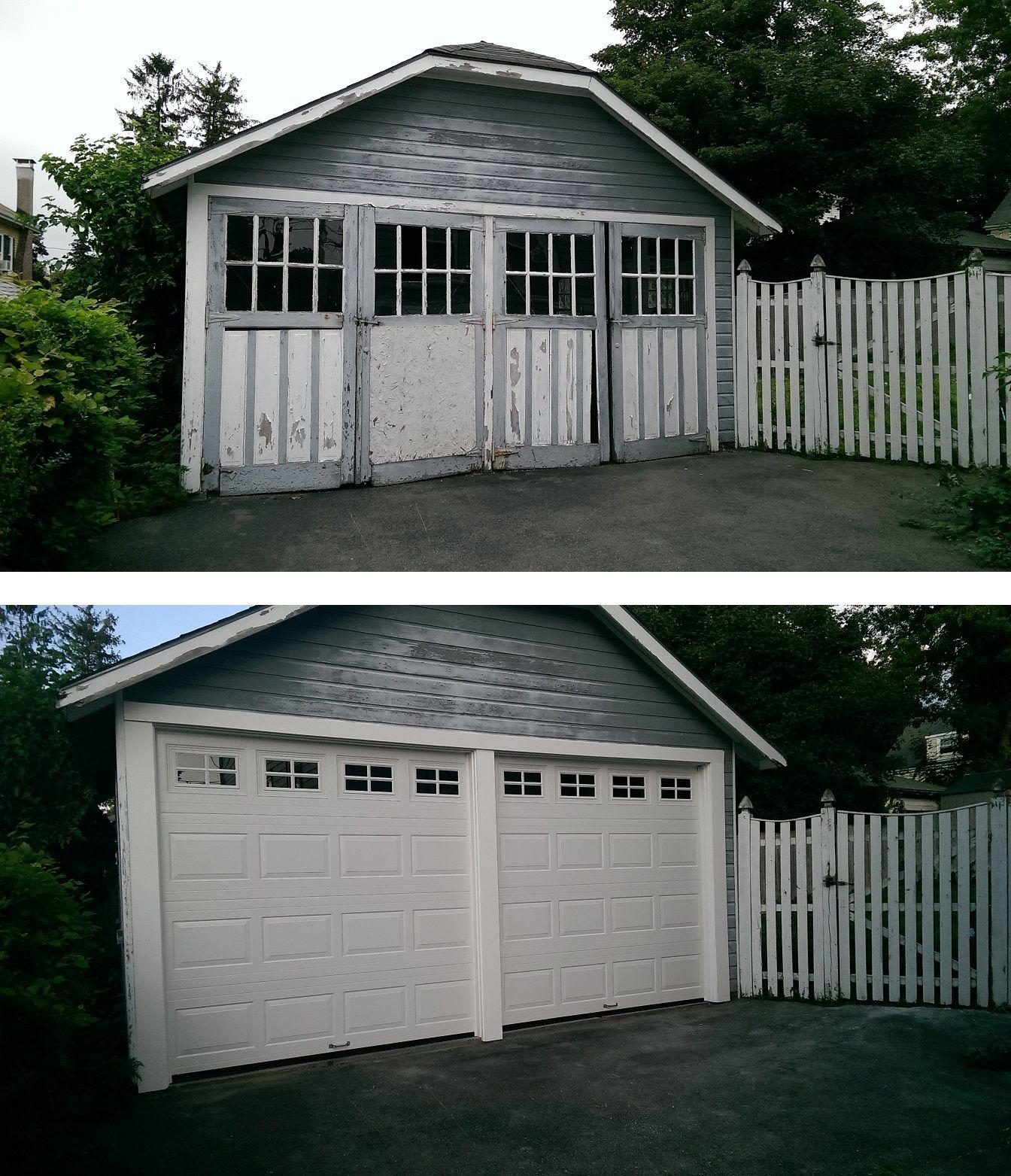 Old wood swing doors replaced with Haas model 680 raised