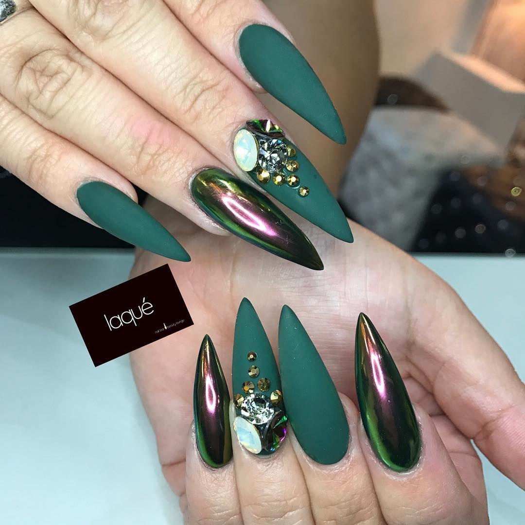 Pin Adăugat De Amalia Pe Design Uñas Verdes Uñas Esmeralda și