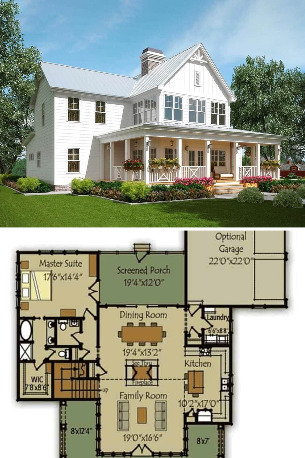 35++ Farmhouse floor plans two story inspiration