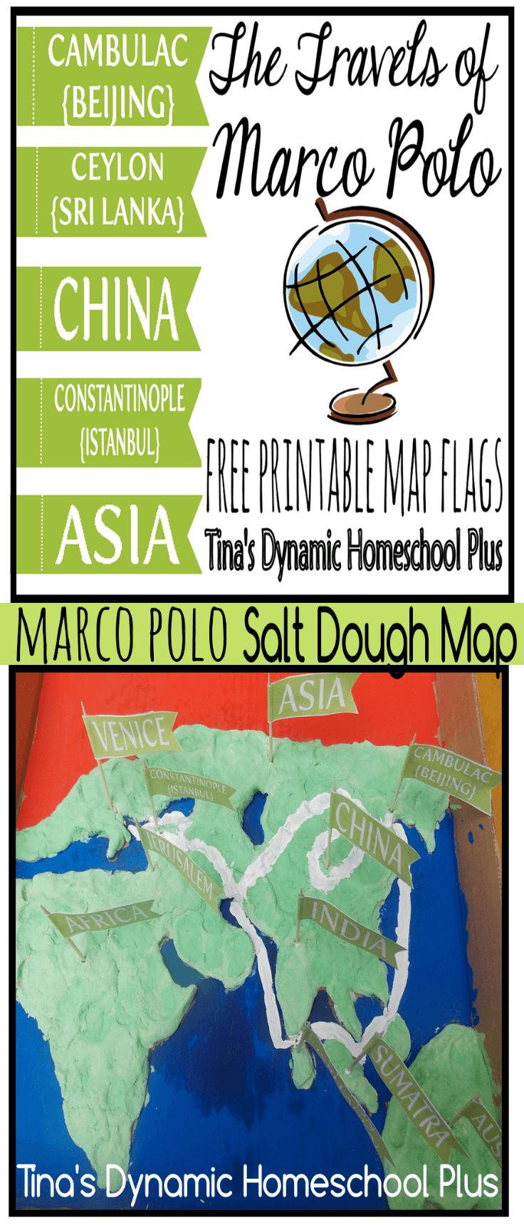 Marco Polo Unit Study - Salt Dough Map + Free Printable Map ... on scarcity of food in china, a map form america to china, russian maps n china,